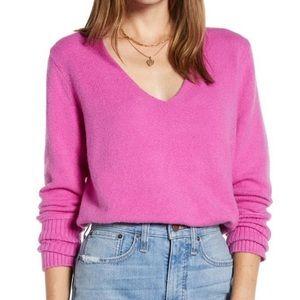 Something Navy Pink v neck sweater XXS